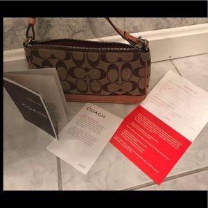 Coach 6094 Signature Demi Pouch Shoulder Bag